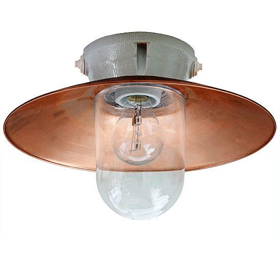 Deckenlampe stall leuchte mit kupfer reflektor dbcu 2010 for Deckenlampe flur