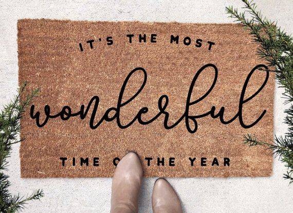 Most Wonderful Time Of The Year Funny Christmas Doormat Christmas