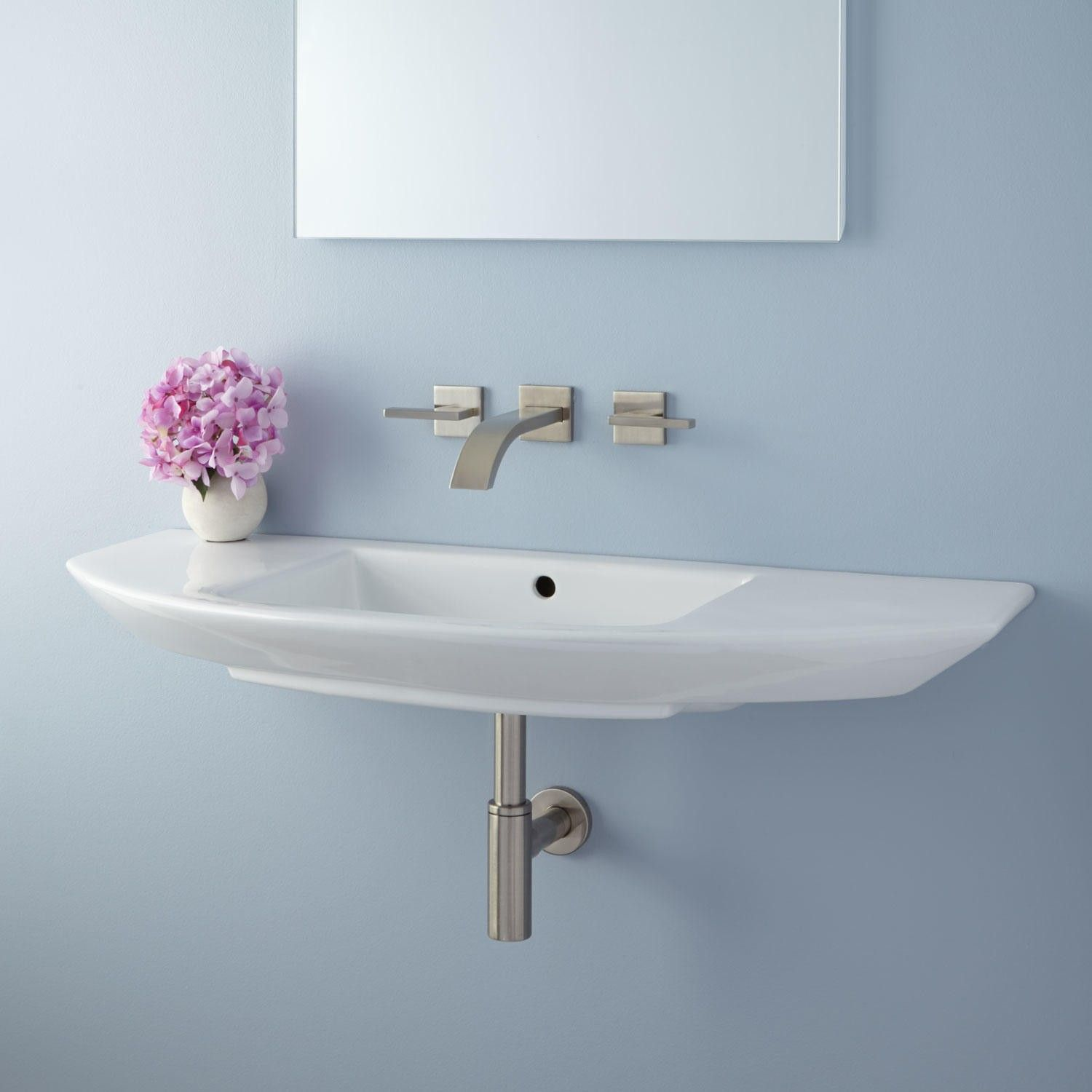 Issa Wall Mount Bathroom Sink Bathroom Tiny Bathroom Sink Small Bathroom Sinks Wall Mounted Bathroom Sinks