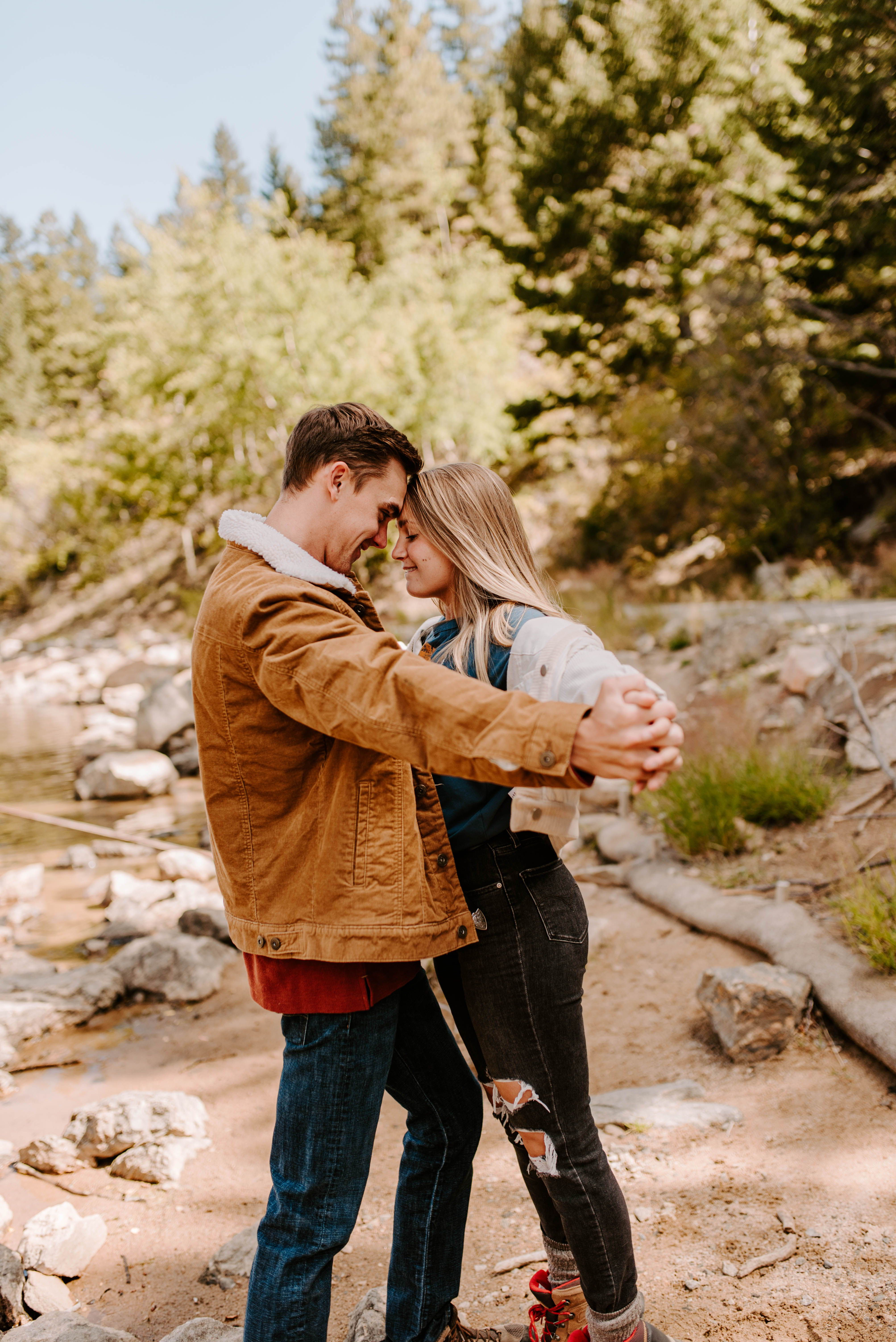 winter park engagement session Winter Park, CO in 2020