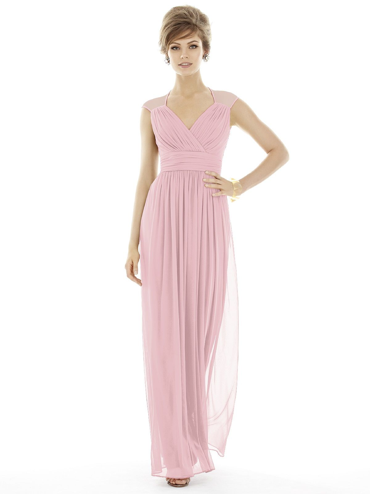 Alfred sung d693 sample sale bridesmaid dress in blush in chiffon shop alfred sung final sale sample sale in chiffon knit at weddington way find the perfect made to order bridesmaid dresses for your bridal party in your ombrellifo Gallery