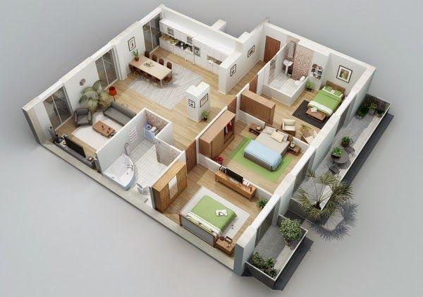 desain rumah minimalis 5 kamar tidur 1 lantai