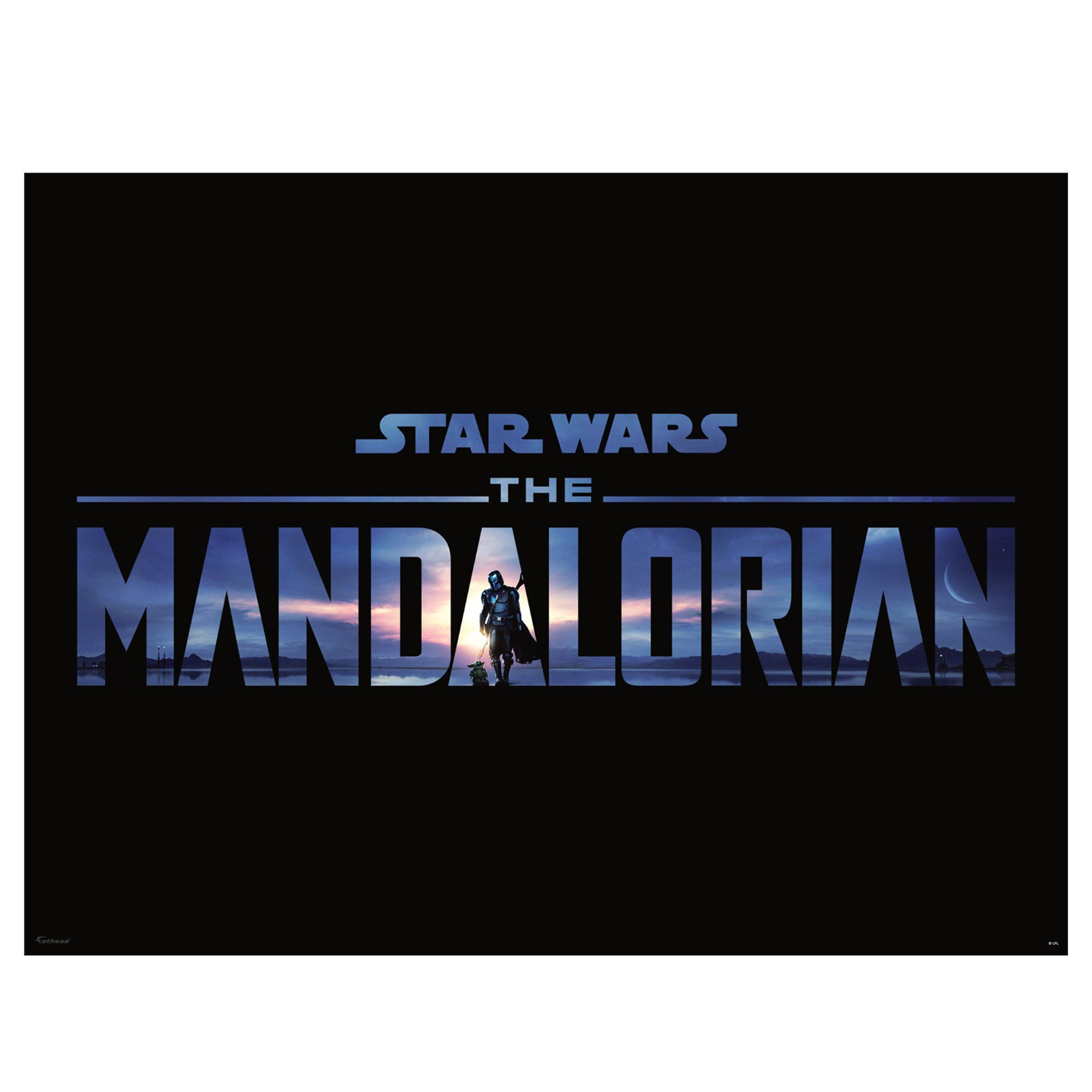 30 The Mandalorian 2 Logo Mural   Officially Licensed Star Wars Removable Wall Adhesive Decal XL by Fathead   Vinyl