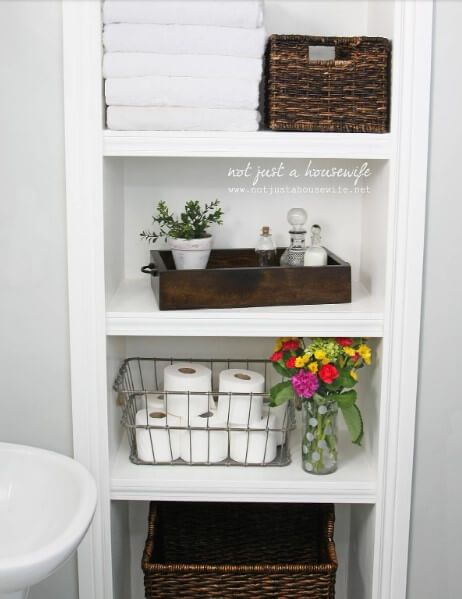 Best Images Photos And Pictures Gallery About Small Bathroom Storage Ideas Bathroomstorage Diystorage Bathroom Shelves Bathroom Shelves Bathrooms Remodel