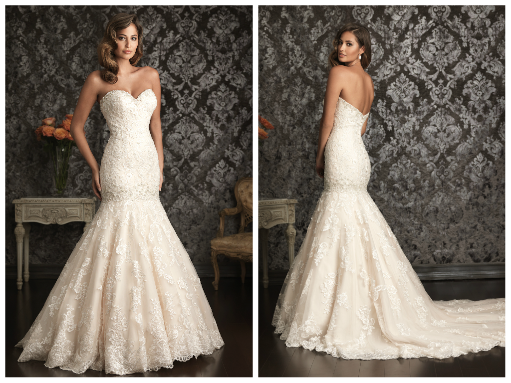 Gorgeous Mermaid Gown Adorned With Delicate Lace Liques Ed