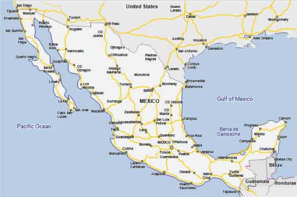 EXPERT RV TIPS On The Road In Mexico Map LW Road Trip - Mexico road map