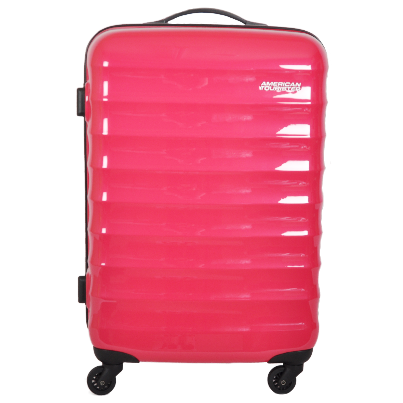pink american tourister luggage