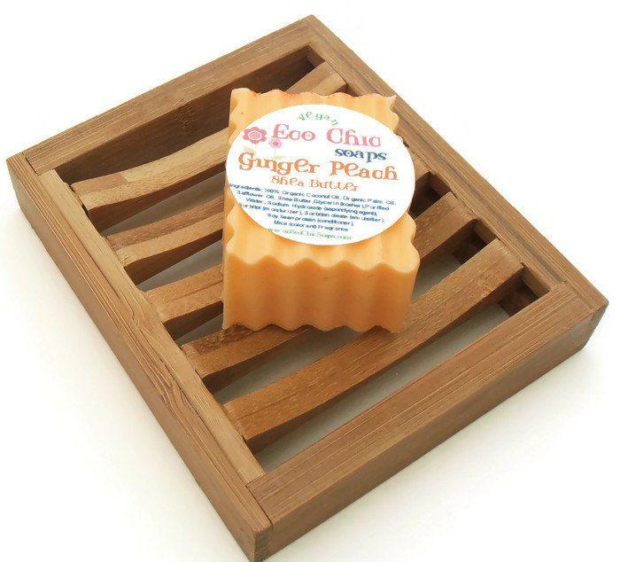 Bamboo Soap Tray - Curved Rectangle Bamboo Soap Tray - Wooden Soap ...
