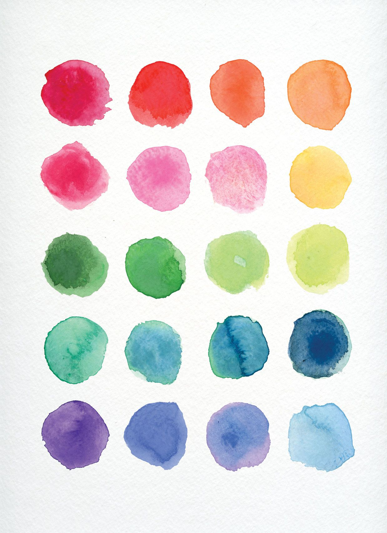 Color Scheme Watercolor Circles Watercolor Texture Watercolor