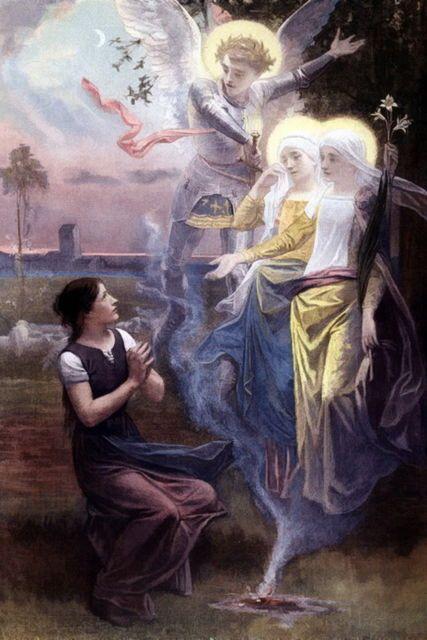 Risultati immagini per sainte jeanne d'arc e saint michel