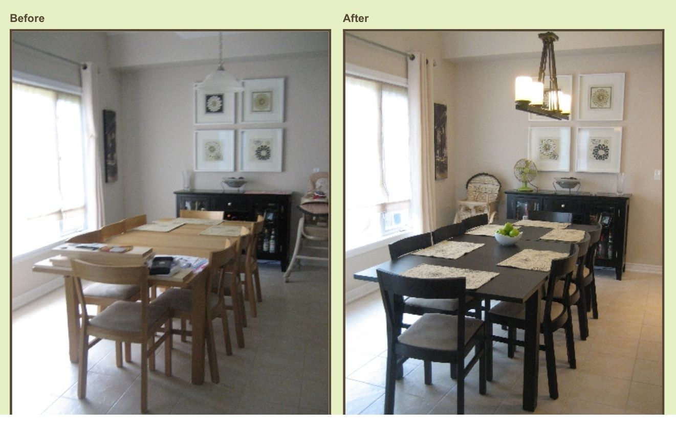 Painted Kitchen Table And Chairs Using Rustoleum Cabinet Transformations