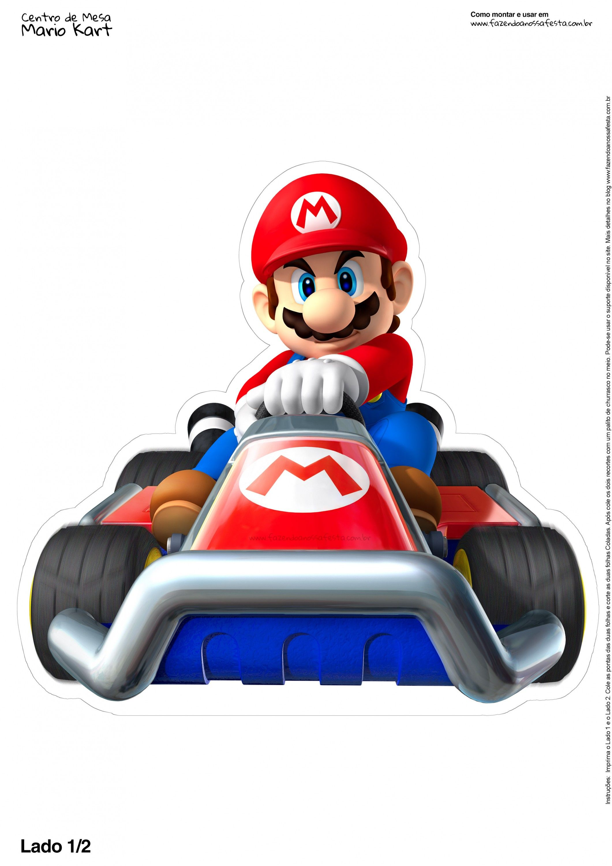 centro de mesa mario kart 2 2 mario brothers printables pinterest mario kart super mario. Black Bedroom Furniture Sets. Home Design Ideas