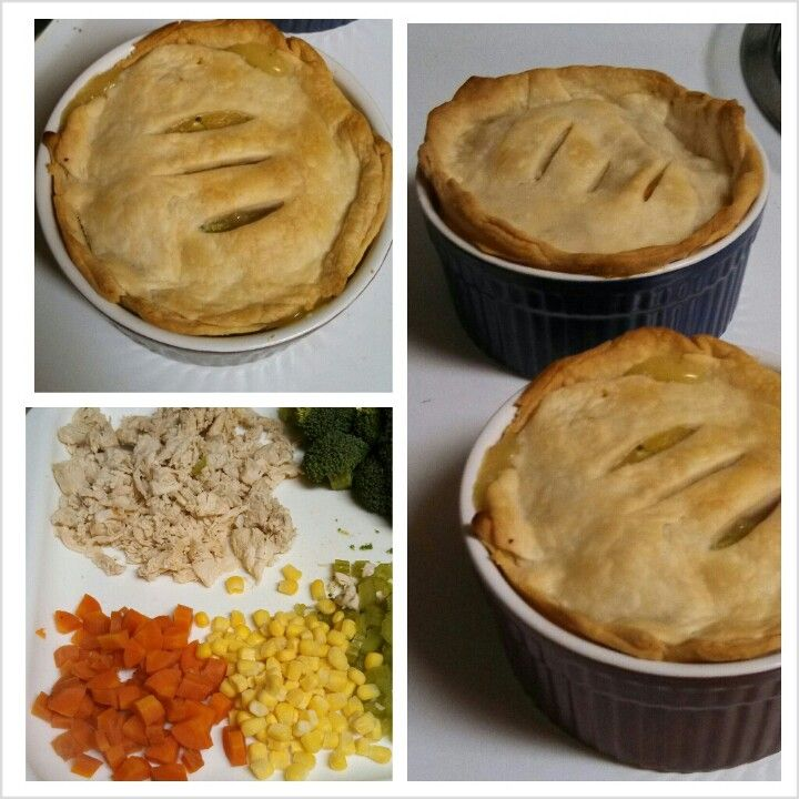 Homemade petite chicken pot pies Super easy and delicious