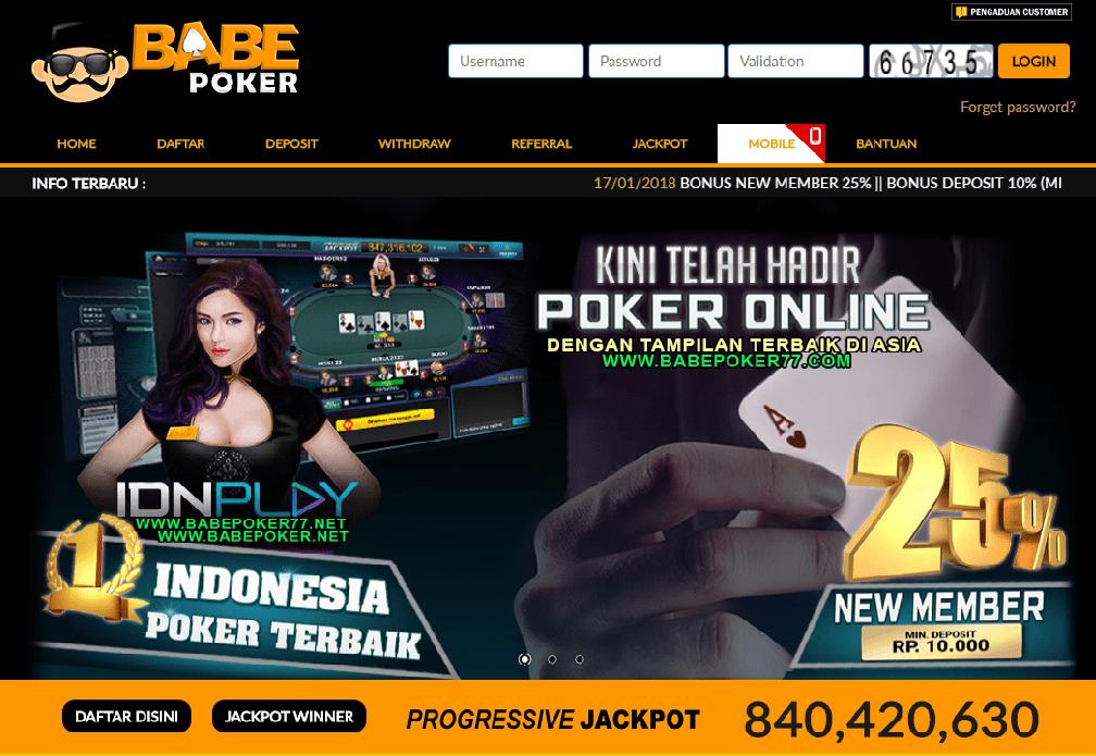 Bonus Deposit Dan Member Baru Situs Poker Online Babepoker Poker Tahu Membaca