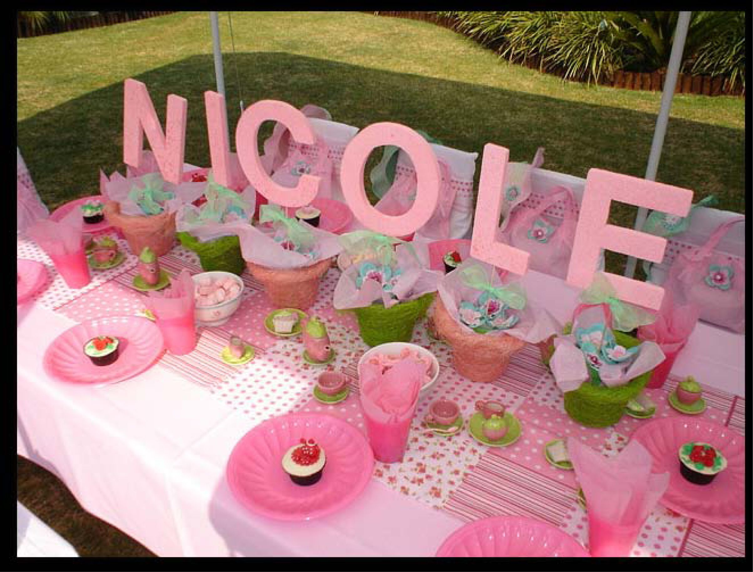Kids tea party table - Name On Table In Arrangements American Girl Partiesafrican Kidsparty