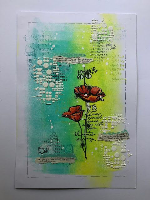 An art journal page for AALL & Create