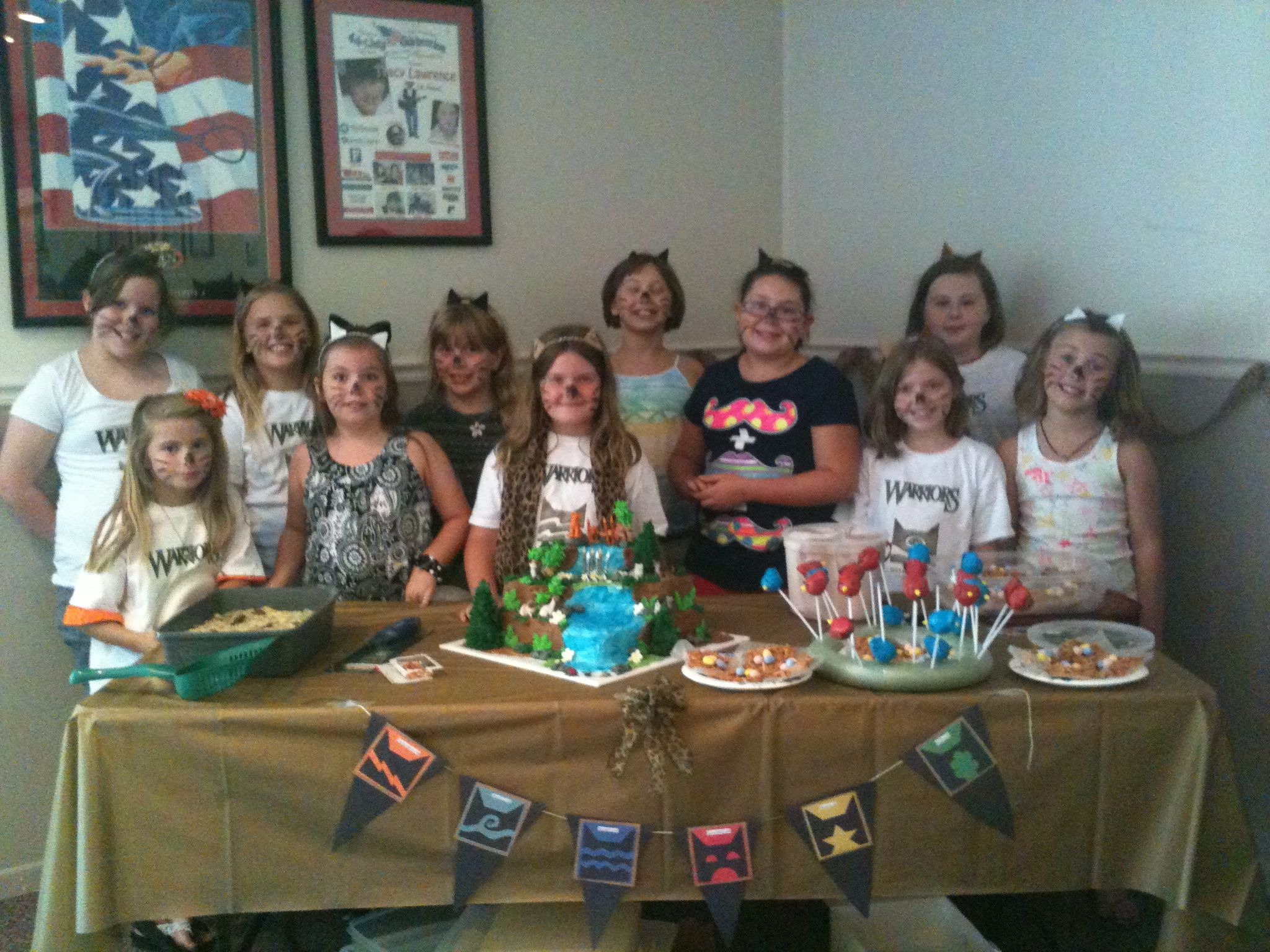 Warrior Cats birthday party was a huge success!