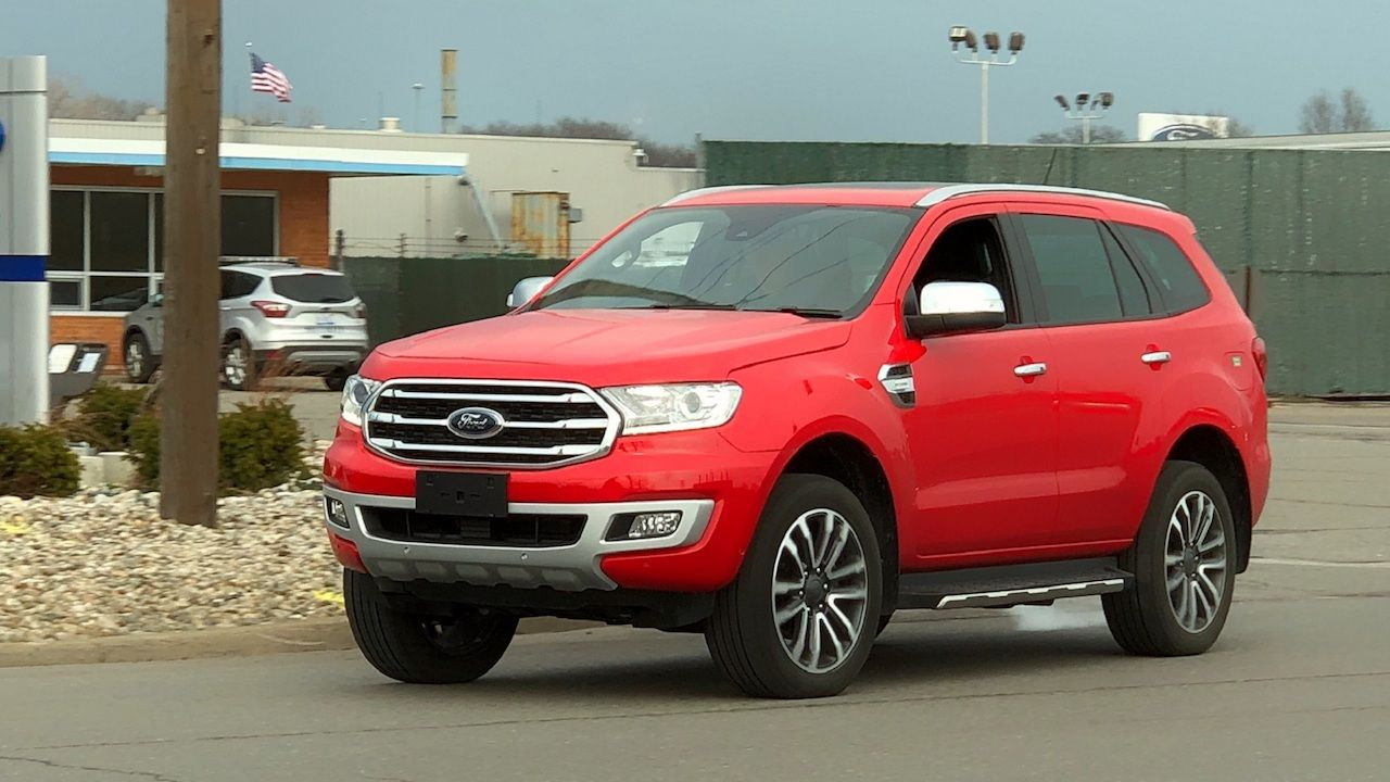 2018 Ford Everest 2018 Ford Endeavour Spied Undisguised In The Usa