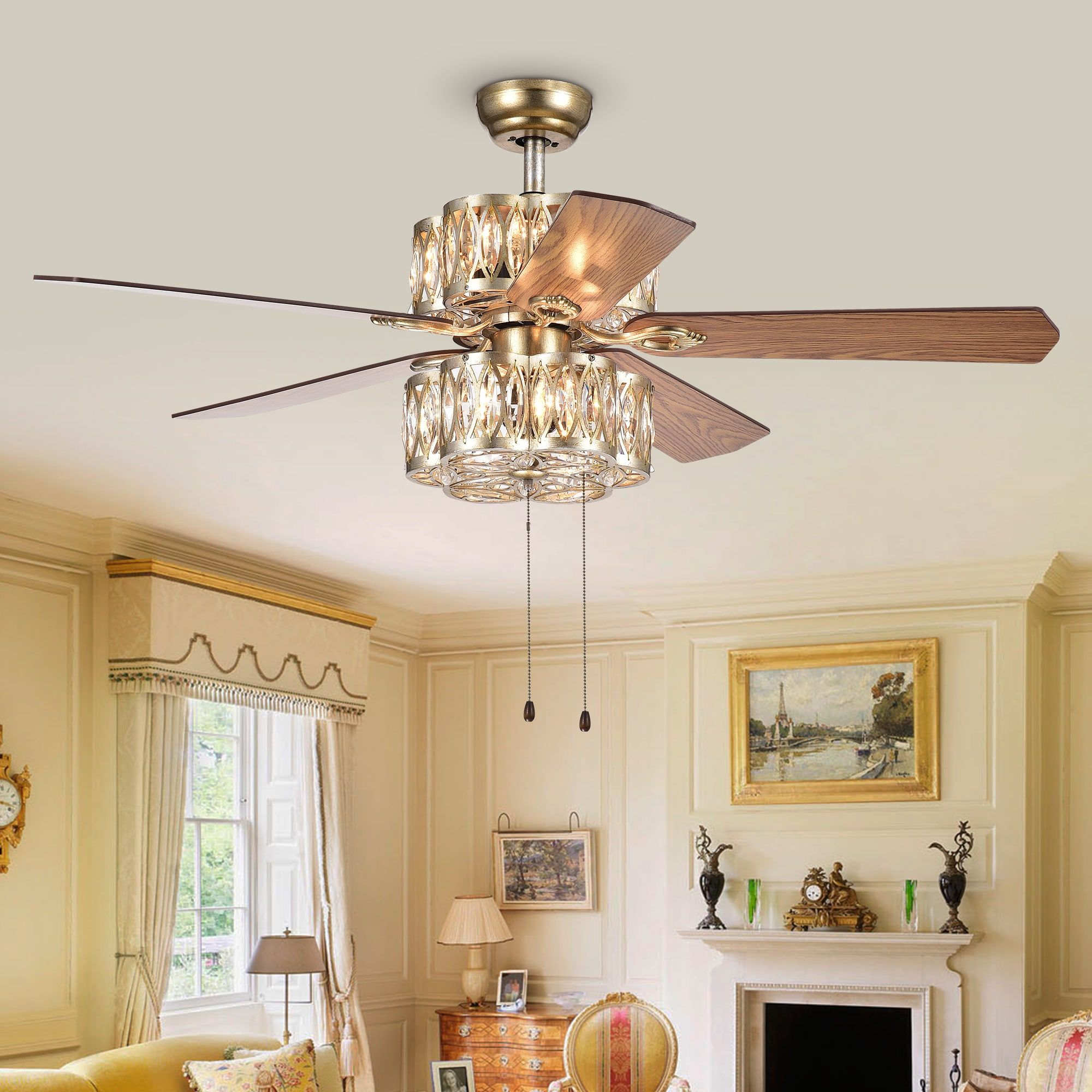 Warehouse of Tiffany Gaspar 52 Inch 5 Blade Modern Ceiling Fan