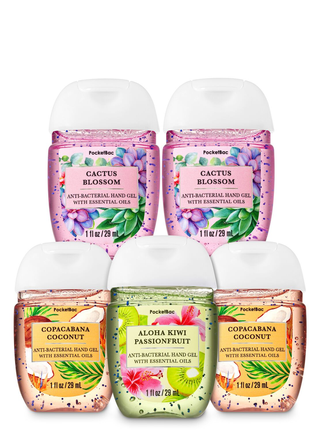 Bath Body Works Sunny Days Pocketbac Hand Sanitizers 5 Pack In