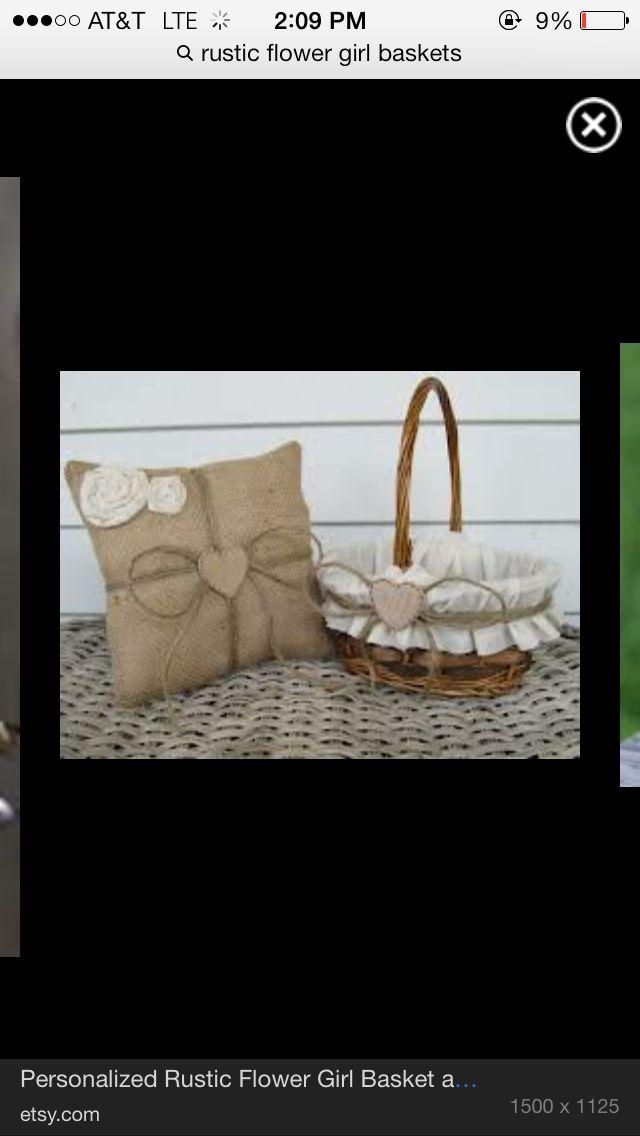 Flowergirl basket idea