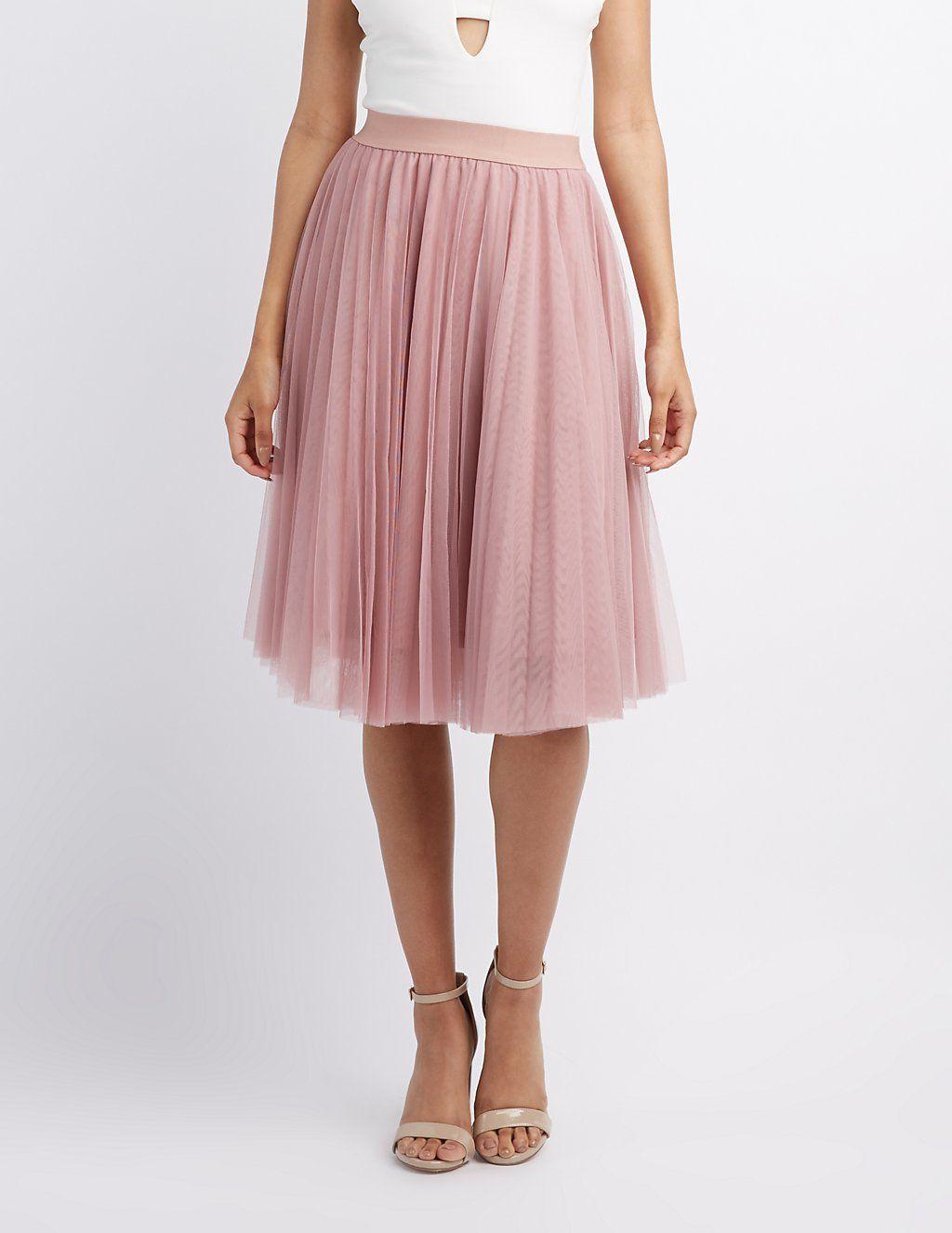bcad0f627c Tulle Full Midi Skirt | Charlotte Russe | My Someday Fairytale ...