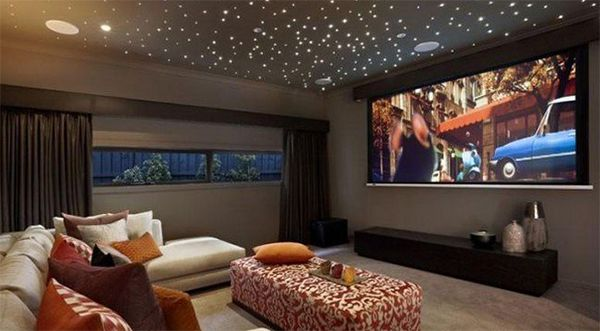 Turn your living room into a mini home theatre threatre for How to turn a basement into a room