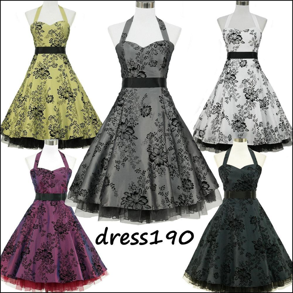dress190 Halfter Herde Tattoo Rockabilly 50er-Abschlussball-Kleid ...