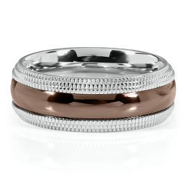 Bling For The Hubby White Chocolate Stainless Steel 8mm