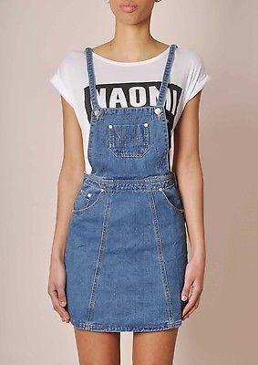 Denim pinafore dress ebay
