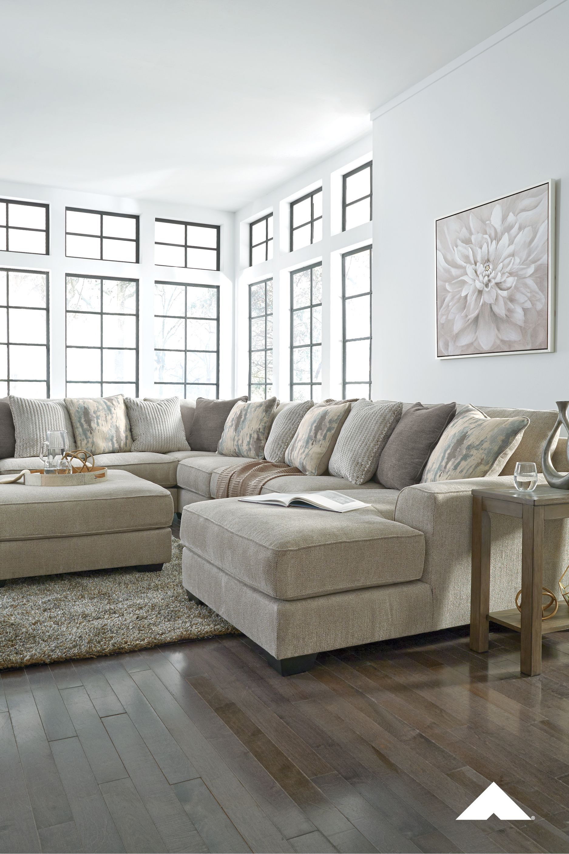 Ardsley Pewter Sectional From Ashley Furniture Plush And Posh The Ardsle Ashley Furniture Living Room Ashley Furniture Sectional Beige Sectional Living Room