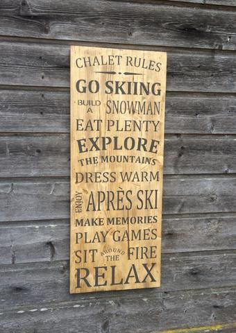 Chalet rules | Wall decor, Wooden wall decor and Wooden walls