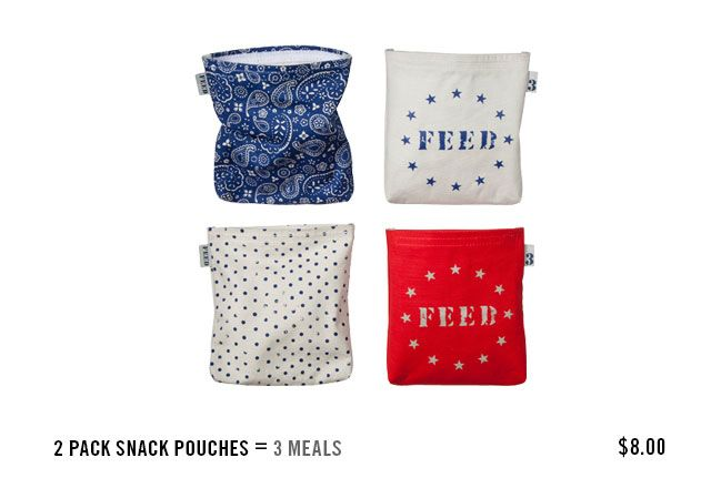 Feed USA + Target : Snack pouch= 3 meals