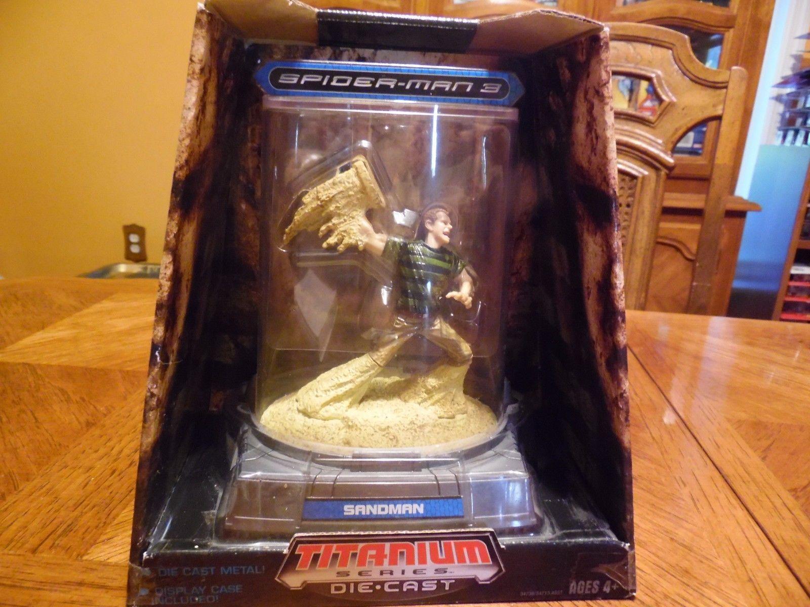 marvel die-cast titanium series sandman new in box retired spider