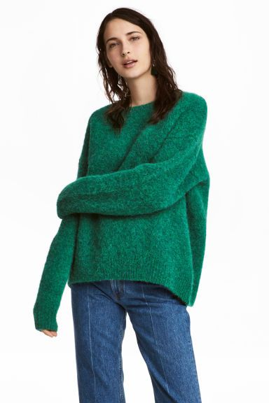 Legergroene Trui Dames.Trui Van Wolmix H M Green Sweater Wool Blend En Sweaters