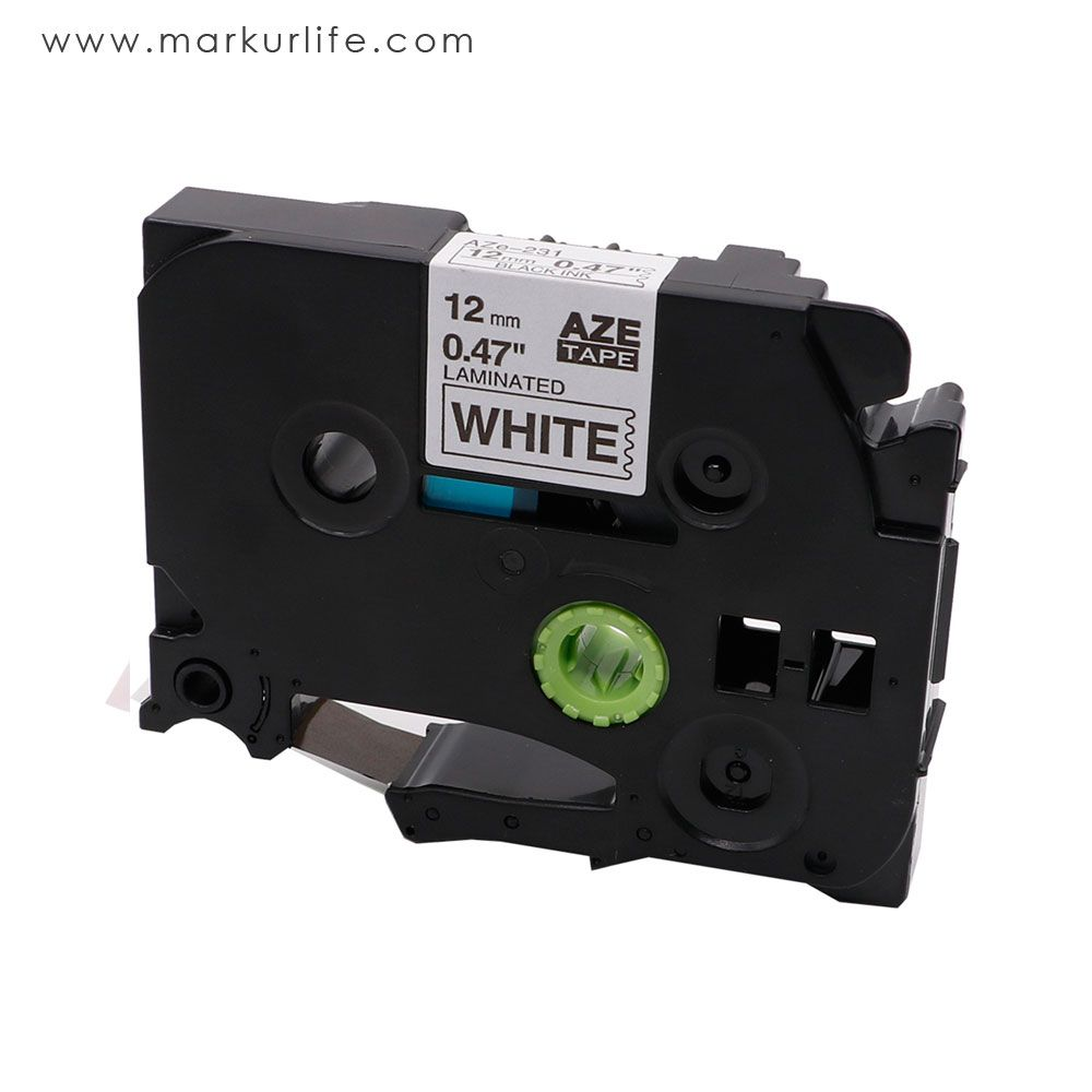 Aze 231 Compatible Brother Tze 231 12mm 1 2 Black On White Label Tape Label Maker Tape Brother Label Maker Tape