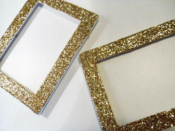 Diy Glitter Frames Elizabeths Nursery Pinterest Craft Crafty