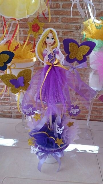 Ideas sencillas y hermosos centros de mesa de princesas - Fiestas de cumpleanos de princesas ...