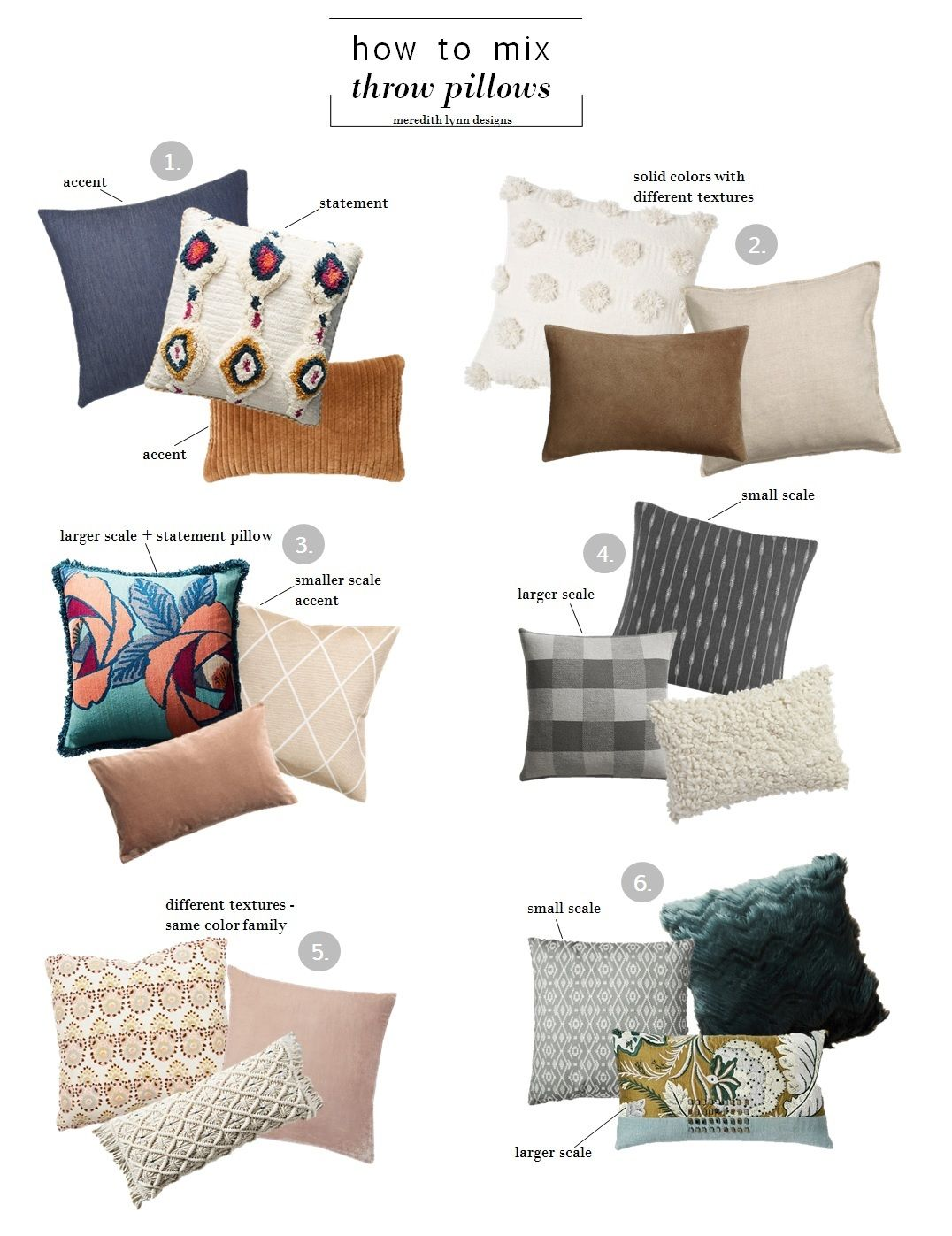 HOW TO MIX THROW PILLOWS — MEREDITH LYNN DESIGNS