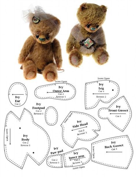 МиМиМишки (Мишки Тедди и их друзья)   Bear and doll patterns ...