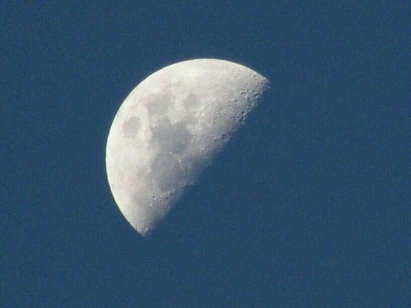 De @José Rozada: La #Luna en #Cuarto #Creciente desde #Guarenas ...