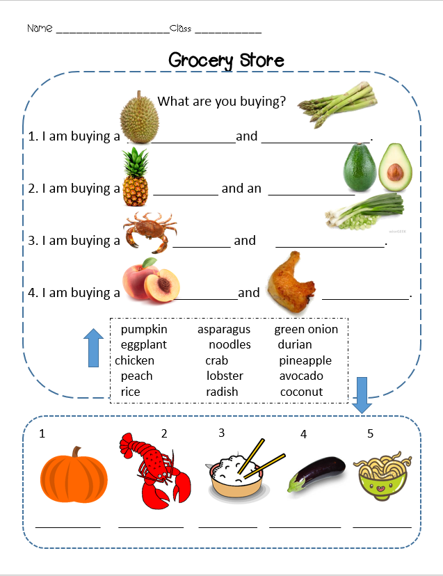 Esl Grocery Store Bundle This Includes The Grocery Store Lesson Plan Power Point Review Worksheets Shopping Lists A Grocery Supermarket Worksheets For Kids