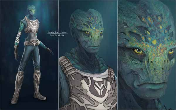 Alien Species Aliens Concept Art