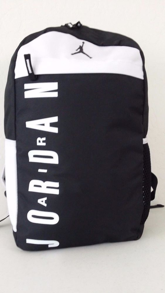 NWT NIKE JORDAN Jumpman Backpack Black White Laptop Sleeve Book Bag  9A1834-K25  Nike  Bookbag  ebay  Nike  Bookbag 087f1d1c0be24