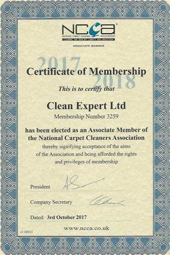 cleanexpert accreditation certificate ncca certificates carpet