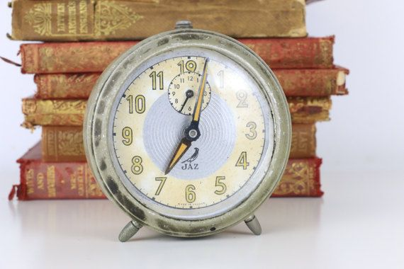 Vintage Jaz French Alarm Clock With Images Alarm Clock