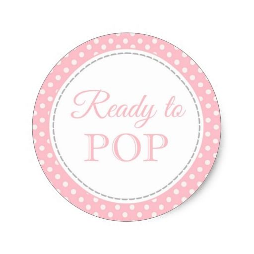 ready to pop stickers template - ready to pop round stickers baby shower girl baby shower