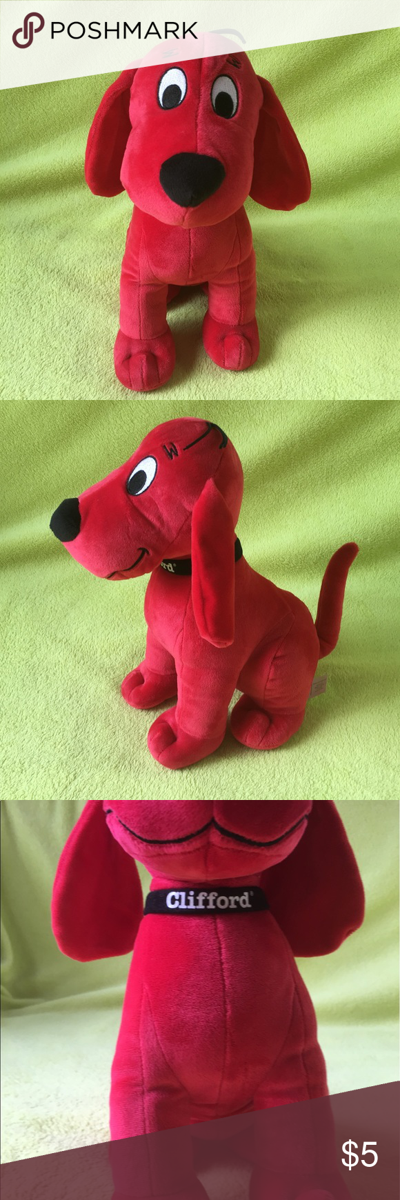 Clifford Red Dog Stuffed Red and soft Clifford Other