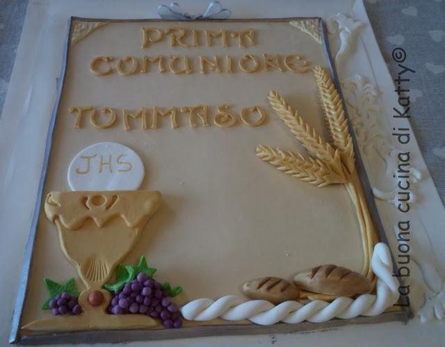 La buona cucina di katty decorazione per torta a libro for Decorazione torte prima comunione