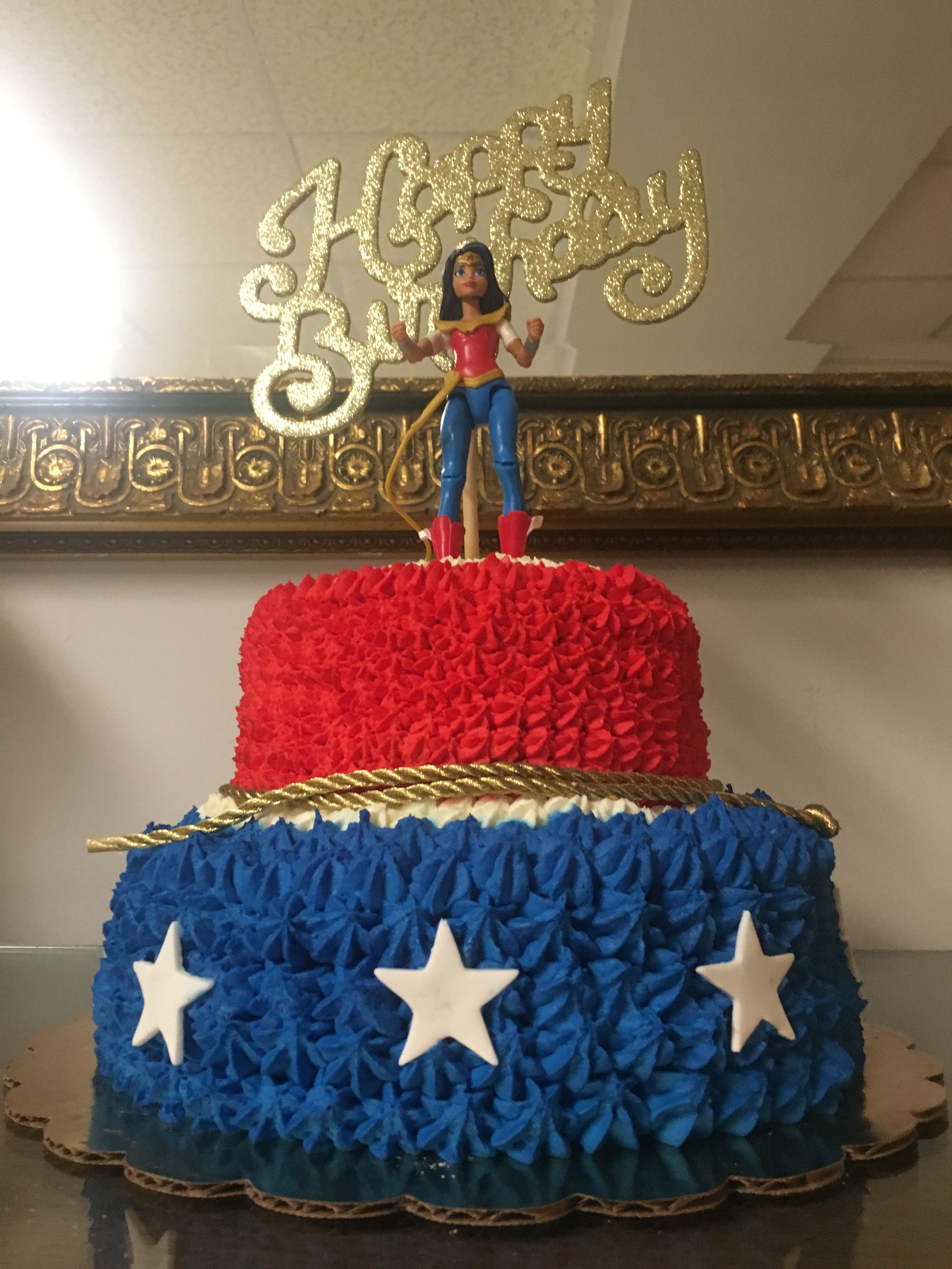 Wonder woman birthday cake cakes pinterest woman